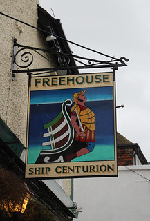 English Pub Sign - Ship Centurion, Whitstable, Kent