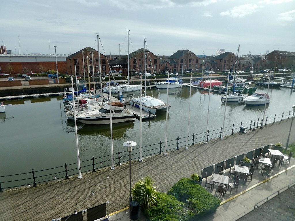 The Holiday Inn Hull Marina view from hotel
