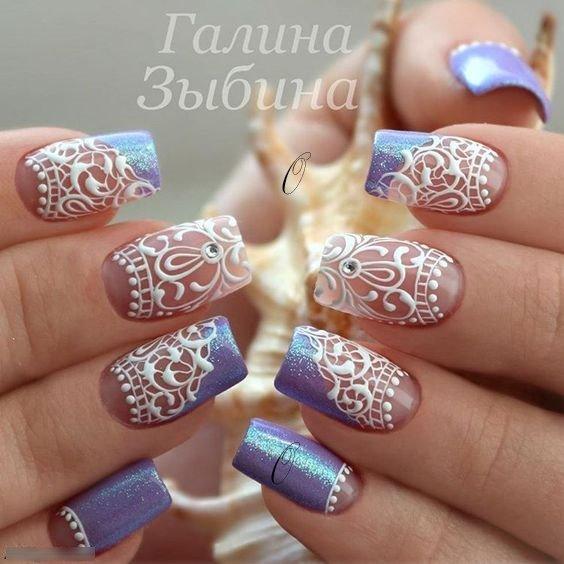 Lace Nail Art Designs 2019