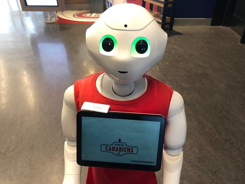 Pepper Robot at Avenue des Canadiens