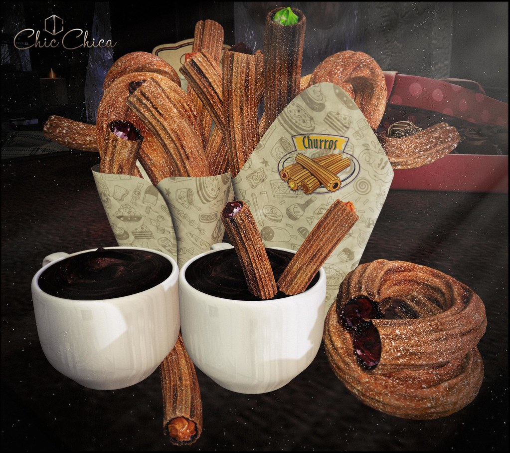 Churros and hot chocolate by ChicChica @ Equal10