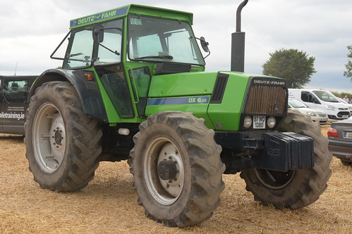 Melleray Vintage Club Vintage Combine Exhibition 2018 Deutz Fahr DX 6.10 Tractor