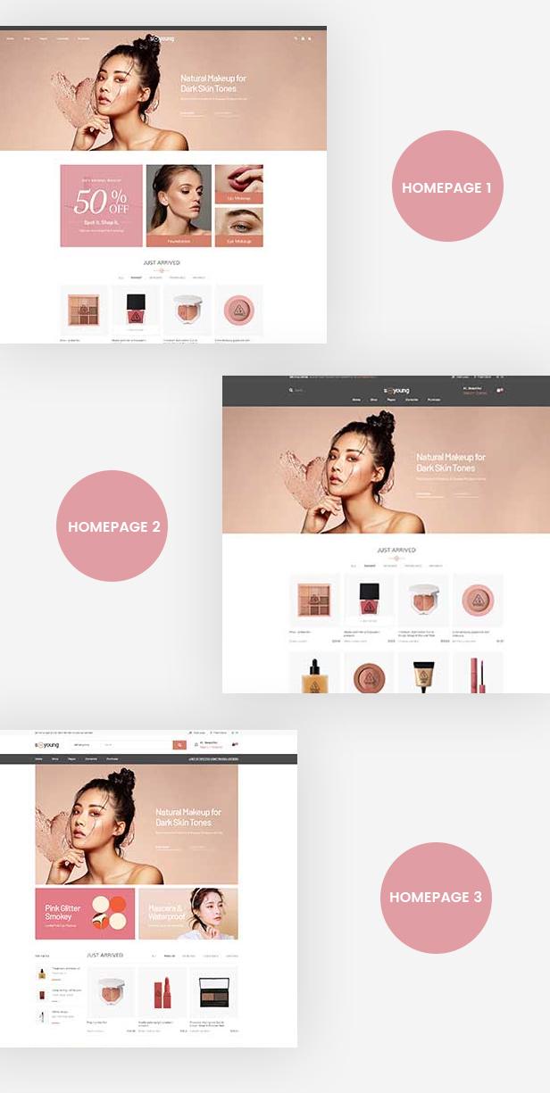 Leo Sooyoung Cosmetics Prestashop Theme - Mutiple Homepages