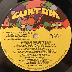 LEROY HUTSON:CLOSER TO THE SOURCE(LABEL SIDE-B)