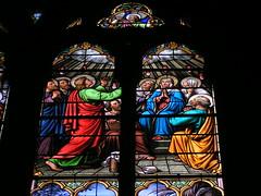 20080516 23608 0906 Jakobus Montbrison Kirche Fenster Maria Pfingsten