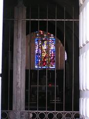 20080521 26817 Flavigny Kirche Fenster Gitter - Photo of Gissey-sous-Flavigny