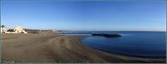 Panoramique de la plage de Sainte-Marie La Mer en février 2019 - Photo of Saint-Laurent-de-la-Salanque