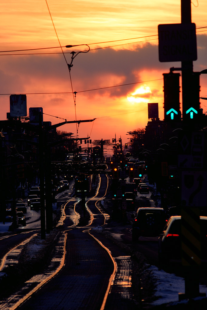 Red Sky Over St Clair West