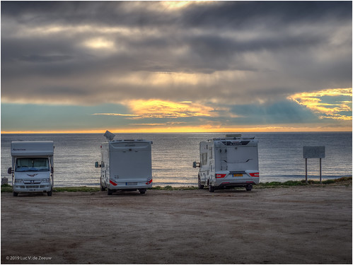 Camper parking with sea view