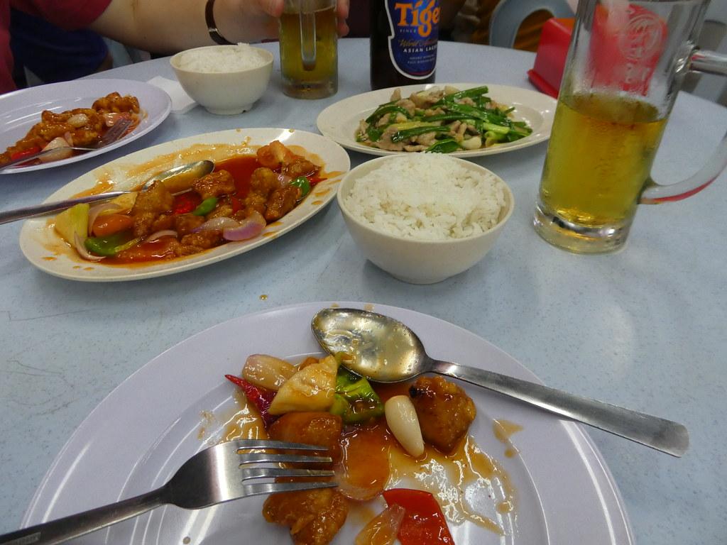 Our meal at Jalan Alor, Kuala Lumpur