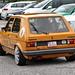 Orange Yellow VW Golf Mk1 GLS