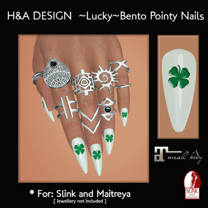 [H&A Designs]-Lucky Bento Pointy Nails