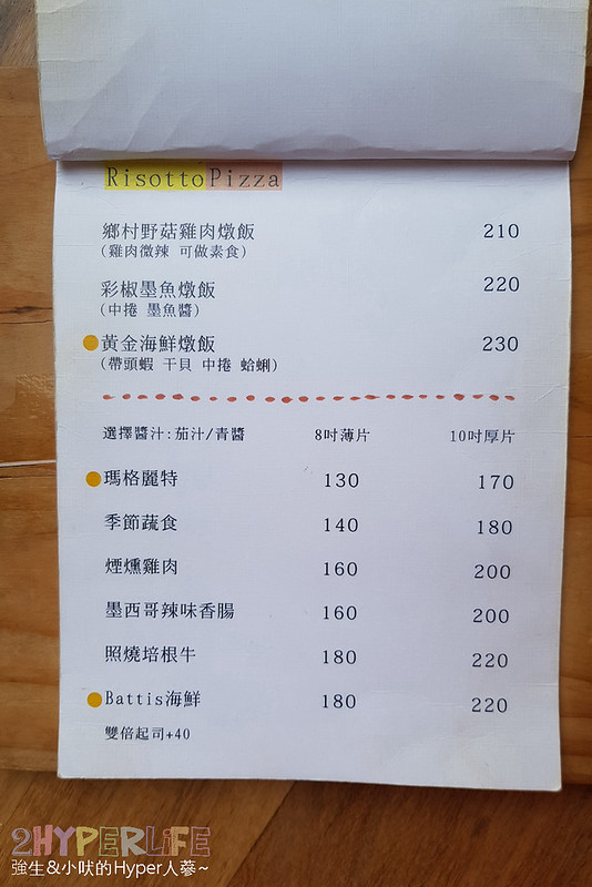 battis風味義式小館菜單 (5)