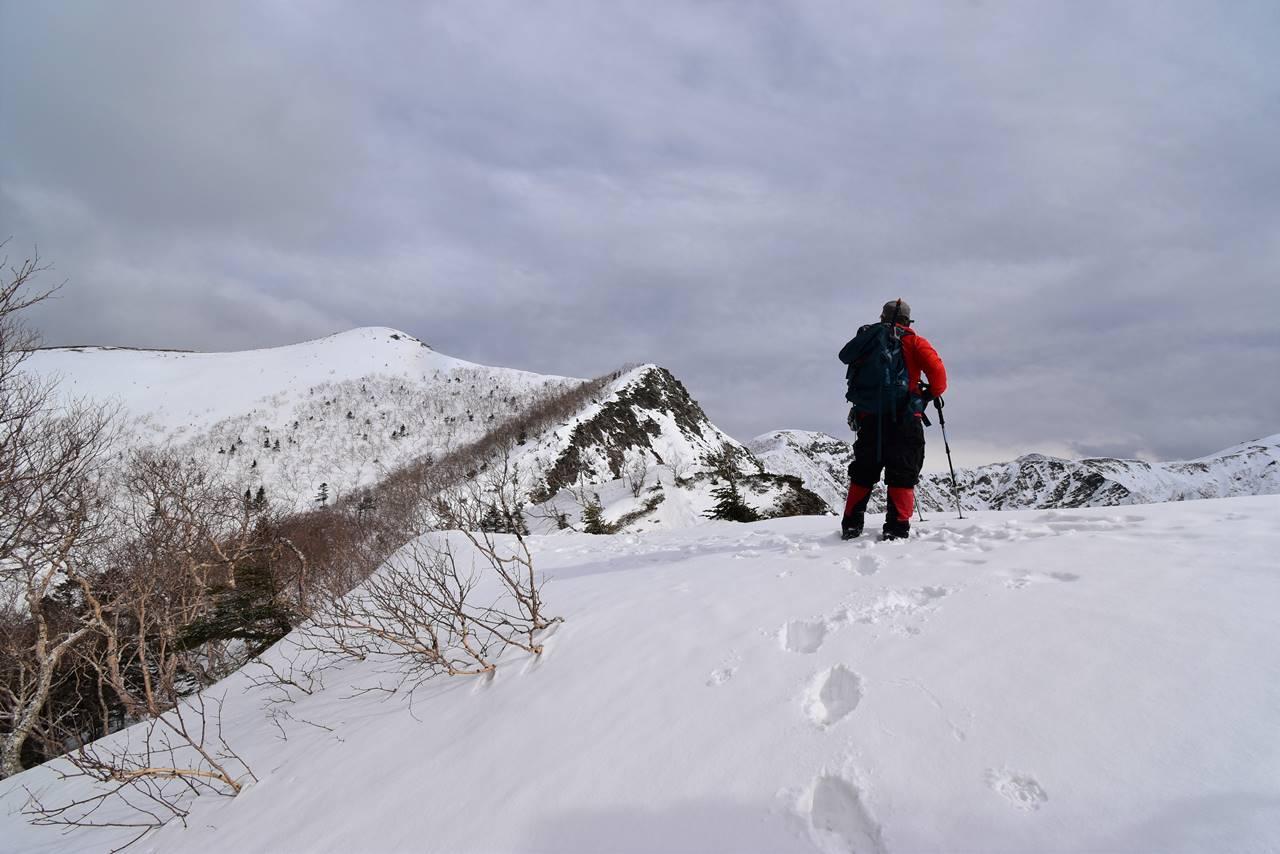 冬の南アルプス烏帽子岳