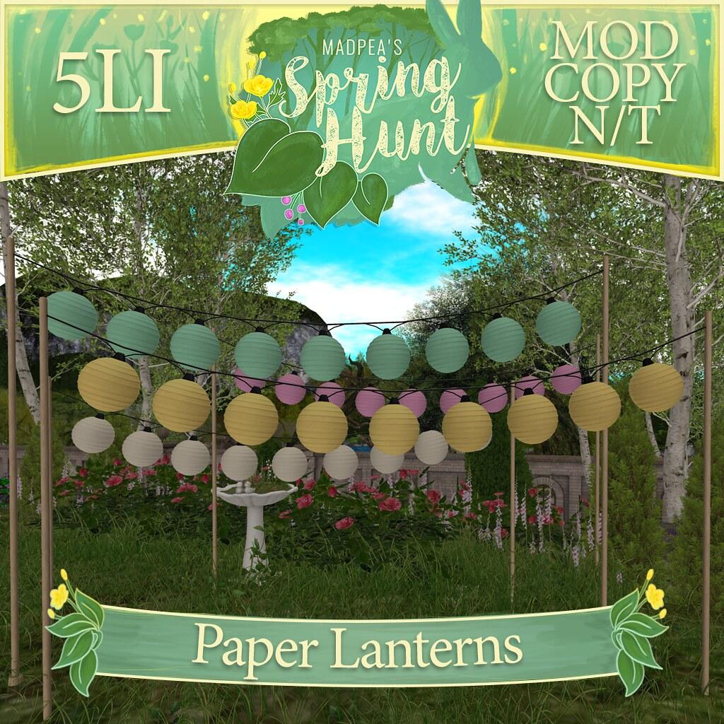 MadPea Spring Hunt – Paper Lanterns!