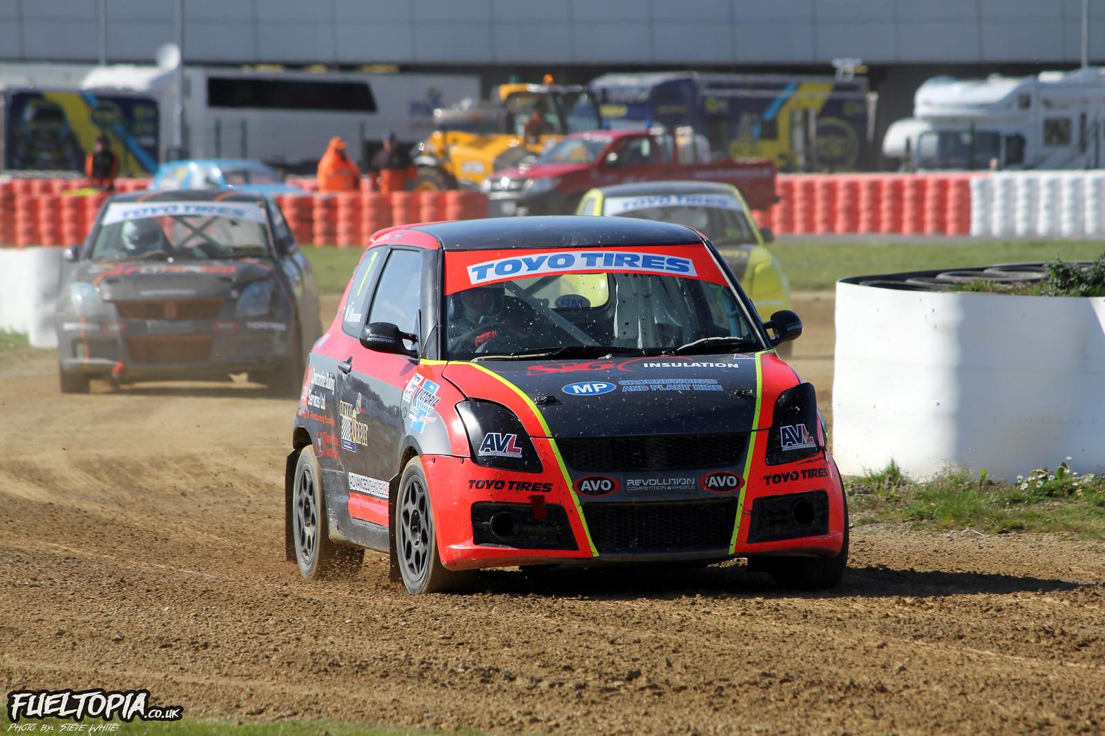 Tom Constantine Suzuki Swift BRX British Rallycross Championship 2019 Steve White Fueltopia