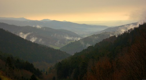 La vallée de Guebwiller vue depuis le Boenlesgrab
