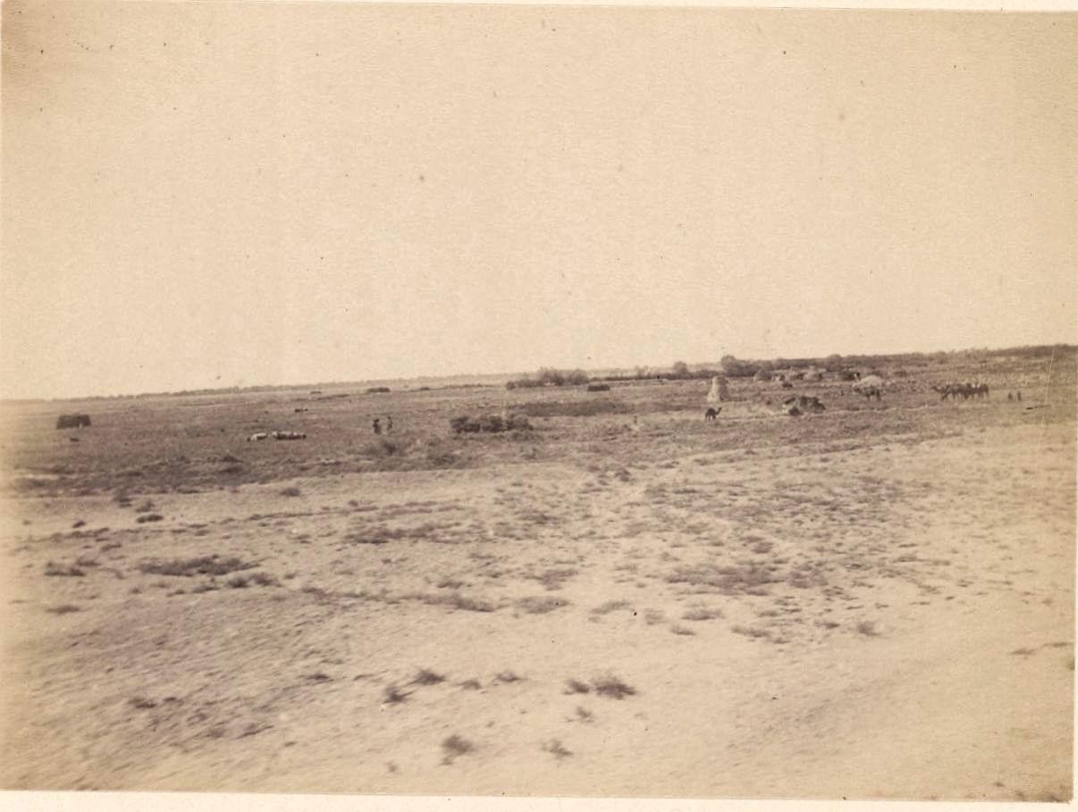 Прибытие в Бухарский эмират. Вид, снятый по железной дороге