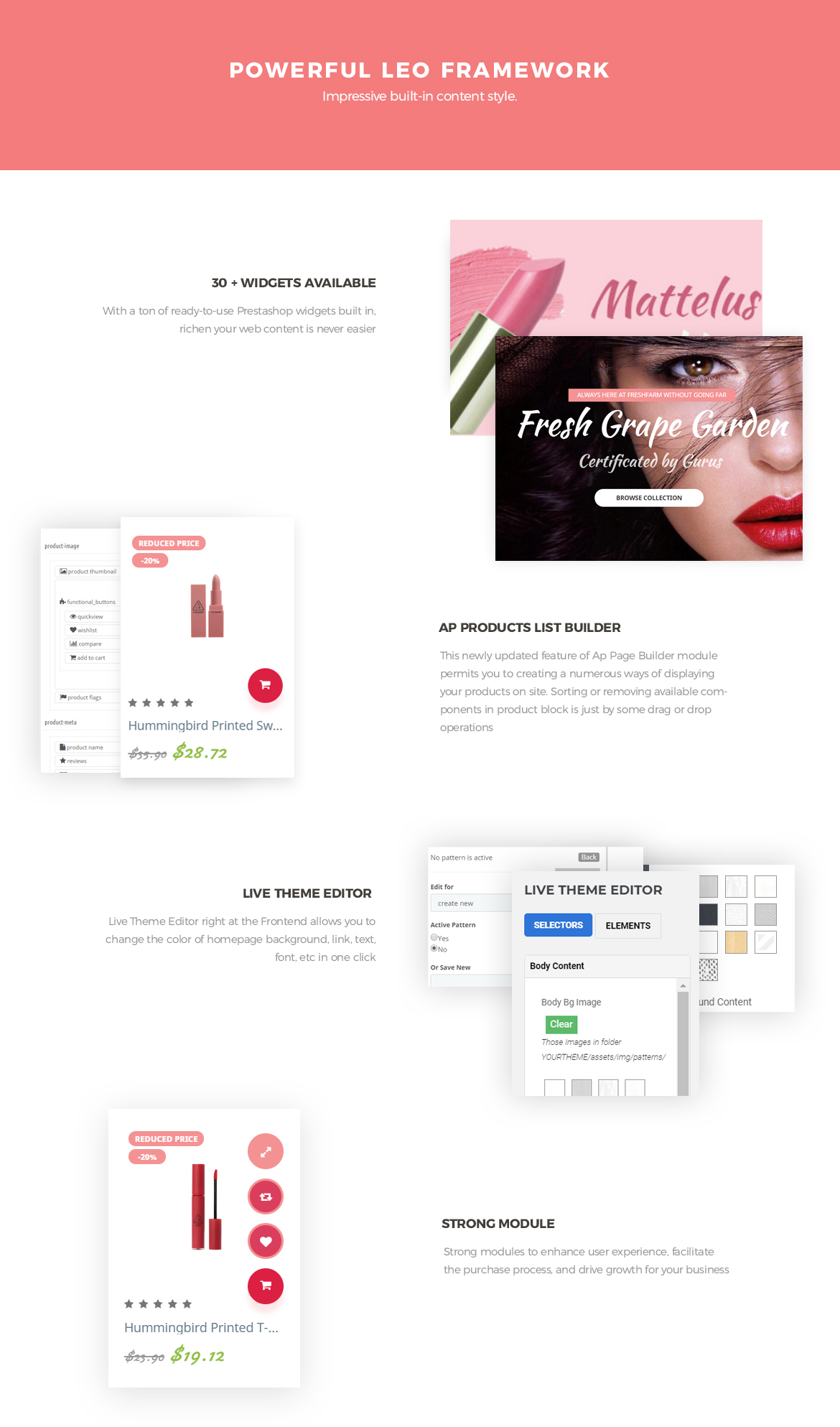 powerful prestashop framework - Leo Lipart - Cosmetics and Beauty Prestashop Theme