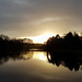 Sunset over Nostell Priory ponds