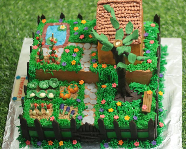 Vegetable Garden Theme Cake by Munni Bonna of Passion for Cake by Munni