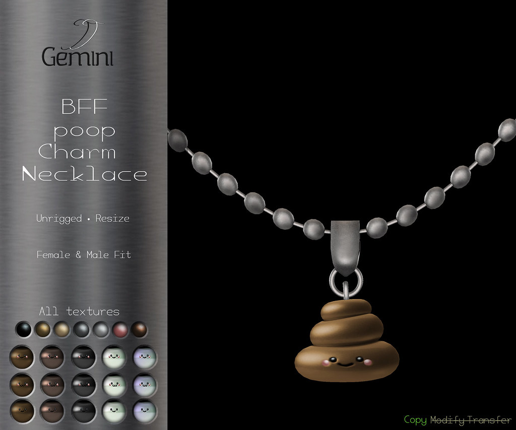 •Gemini -BFF Poop Charm Necklace- @ Commotion Event•