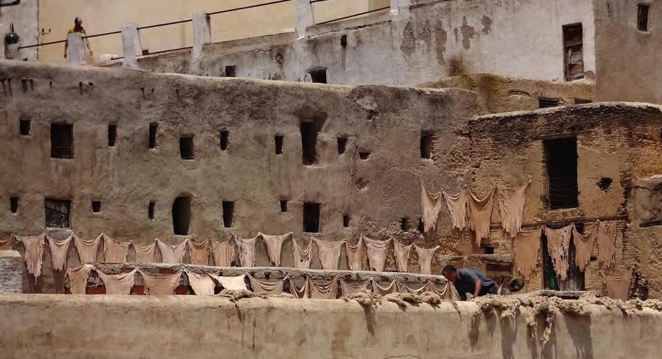 Fez Marokko: 6x mooi uitzicht, leerlooierijen Fez | Mooistestedentrips.nl