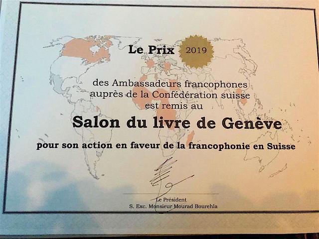 Prix des Ambassadeurs francophones