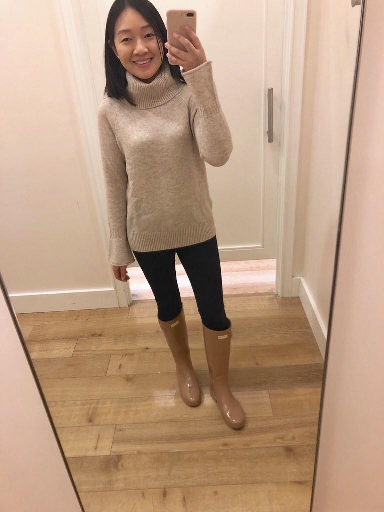 LOFT Flare Sleeve Sweater, size XSP