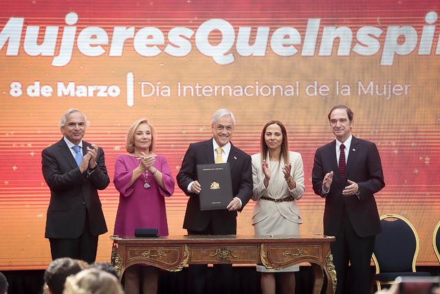 Conmemoración Dia Internacional de la Mujer en La Moneda- Mujeres que inspiran. 08.03.19
