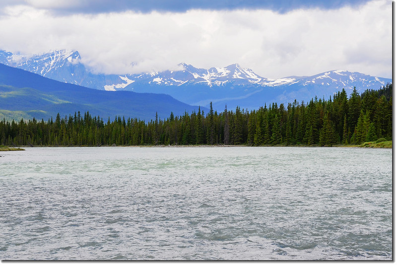 The Athabasca River and a Mountain View (Jasper National Park) 2