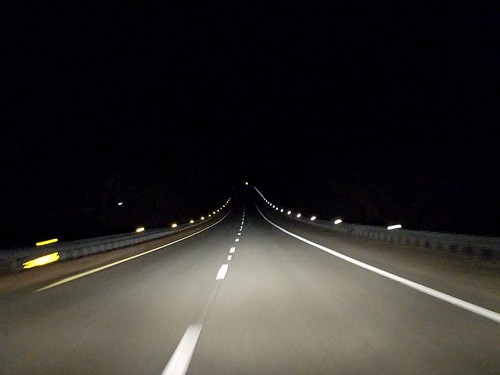 on the highway, homebound
