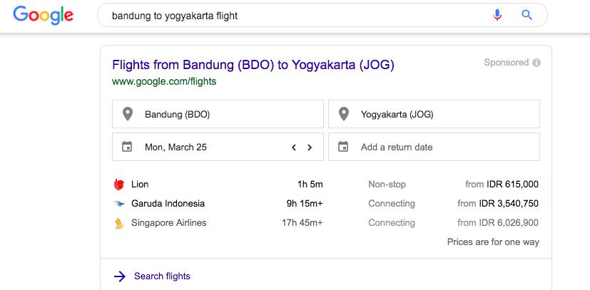 Flight Bandung to Yogyakarta