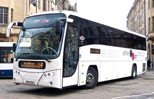 MF61 OXF 'Oxford Bus Company' No. 41 'airline/X90'. Scania K360EB / Plaxton Panther  on Dennis Basford's railsroadsrunways.blogspot.co.uk'