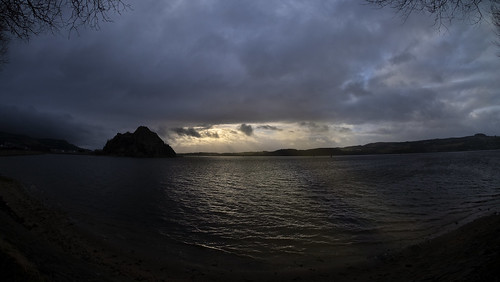 Dumbarton Rock at the Confluence of the River Leven and the River Clyde