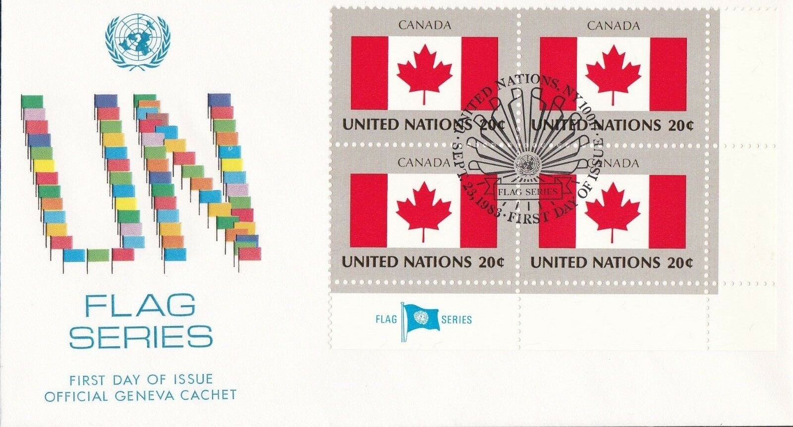 United Nations New York - Scott #410 (1983) first day cover