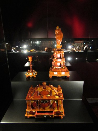 Objects made of amber from the Baltic Sea in Poland