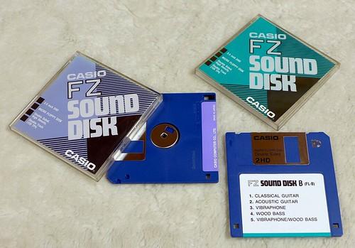Casio Sound Disk Set 5 and Sound Disk B for Casio FZ-1