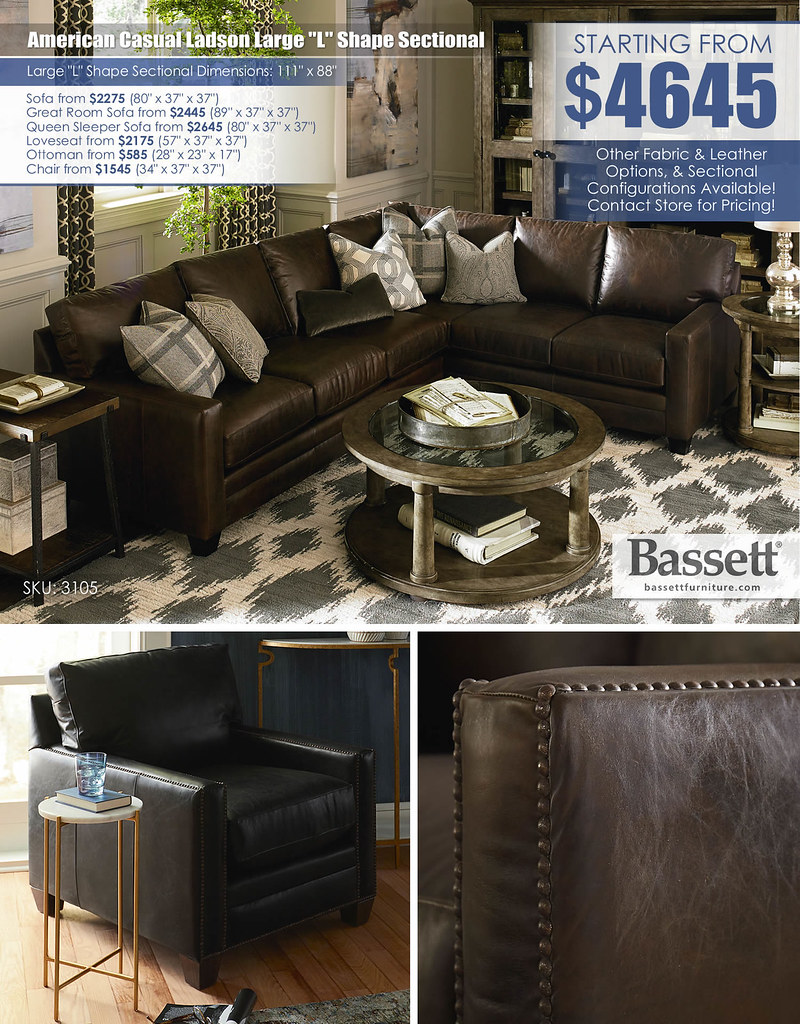 American Casual Large L Shape Sectional by Bassett_3105-LSECTLCB-Ladson-FA14_layout3