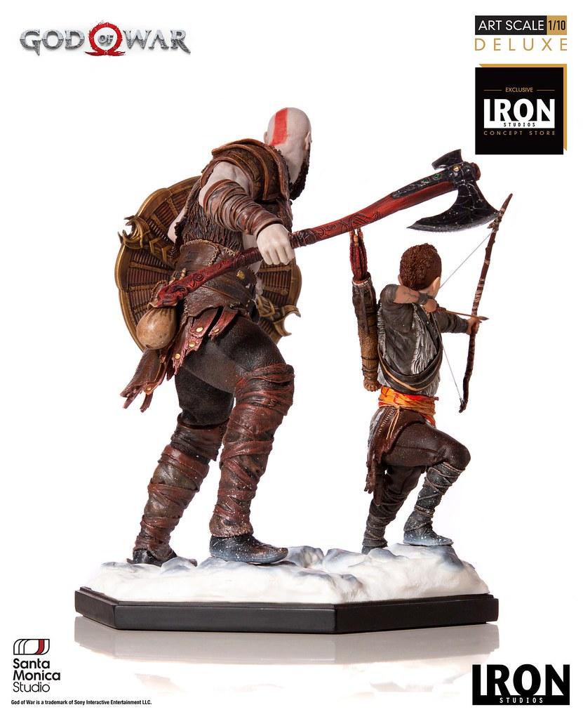 父子並肩作戰場景再現!! Iron Studios《戰神》克雷多斯與阿特柔斯 豪華版 Kratos and Atreus Deluxe 1/10 比例全身雕像作品