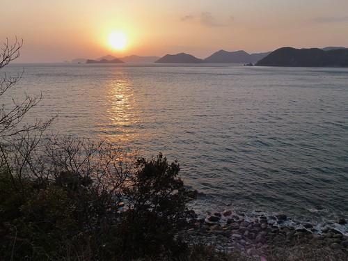 coastal sunset 愛南町 愛媛県 japan