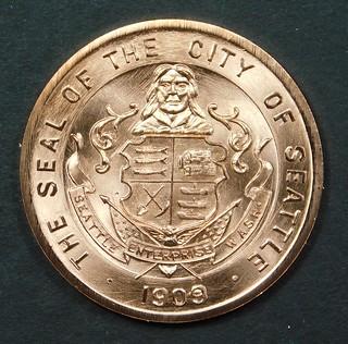 So-Called Dollar Pacific Coast Expos book medal