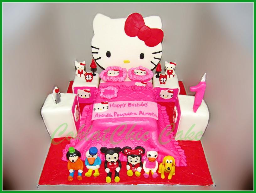 Cake Hello Kitty Bedroom Anindya 18 cm