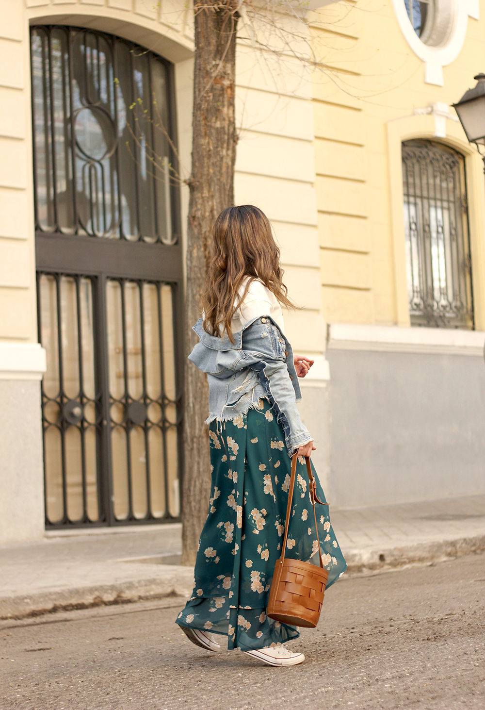 floral maxi converse skirt tshirt find amazon fashion street style outfit 20194