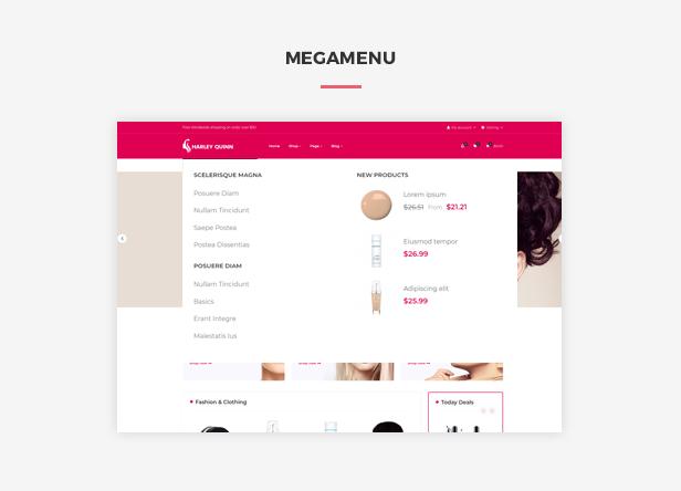 Ap Harleyquinn Organic Cosmetic Prestashop Theme - smart megamenu