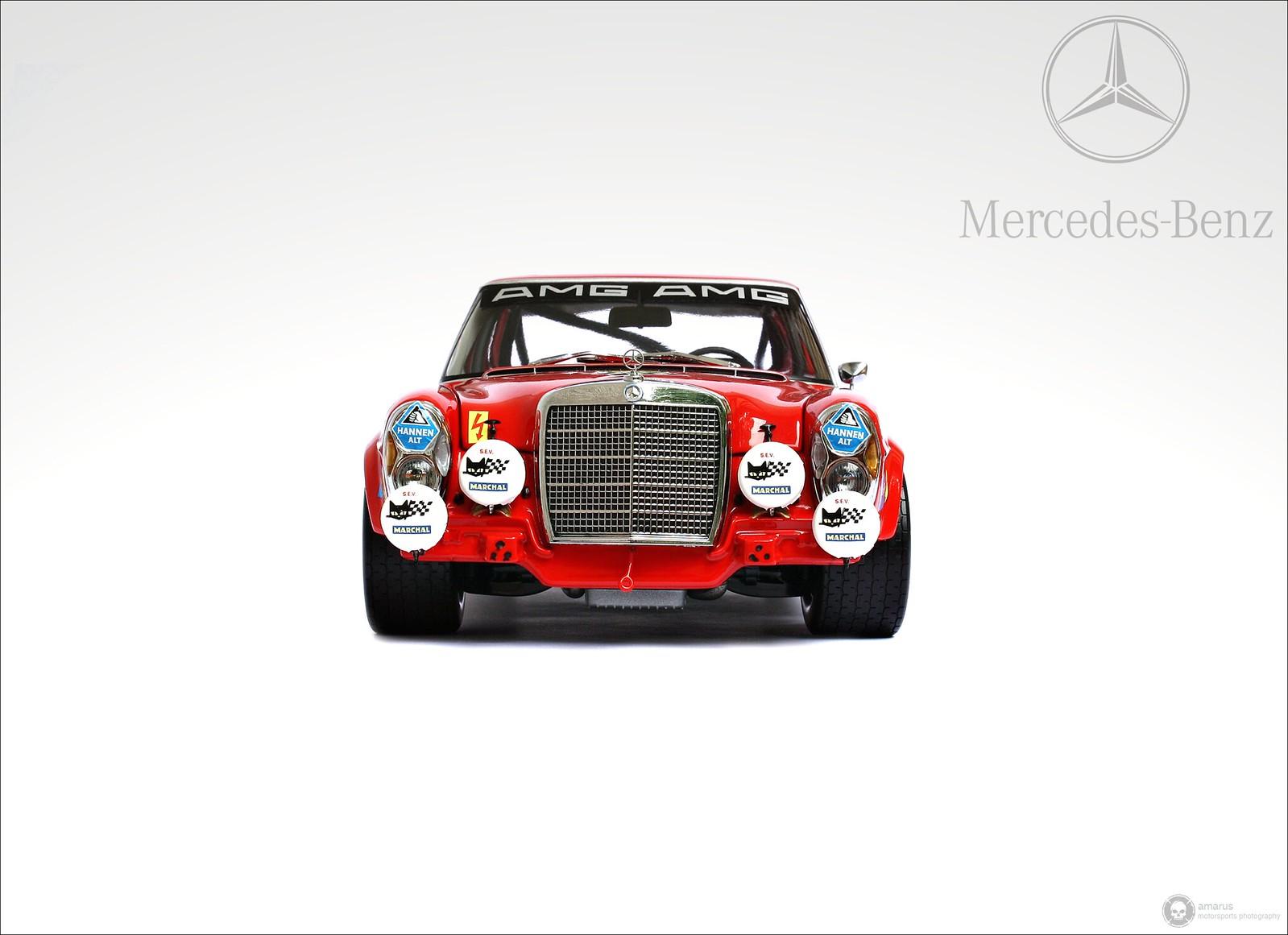Mercedes-Benz 300 SEL 6.8 rot 1:18 Minichamps limitiert Nürburgring #1
