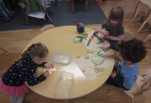 writing & play dough