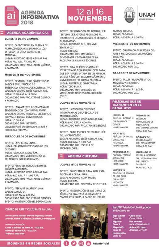 Agendas Informativas UNAH