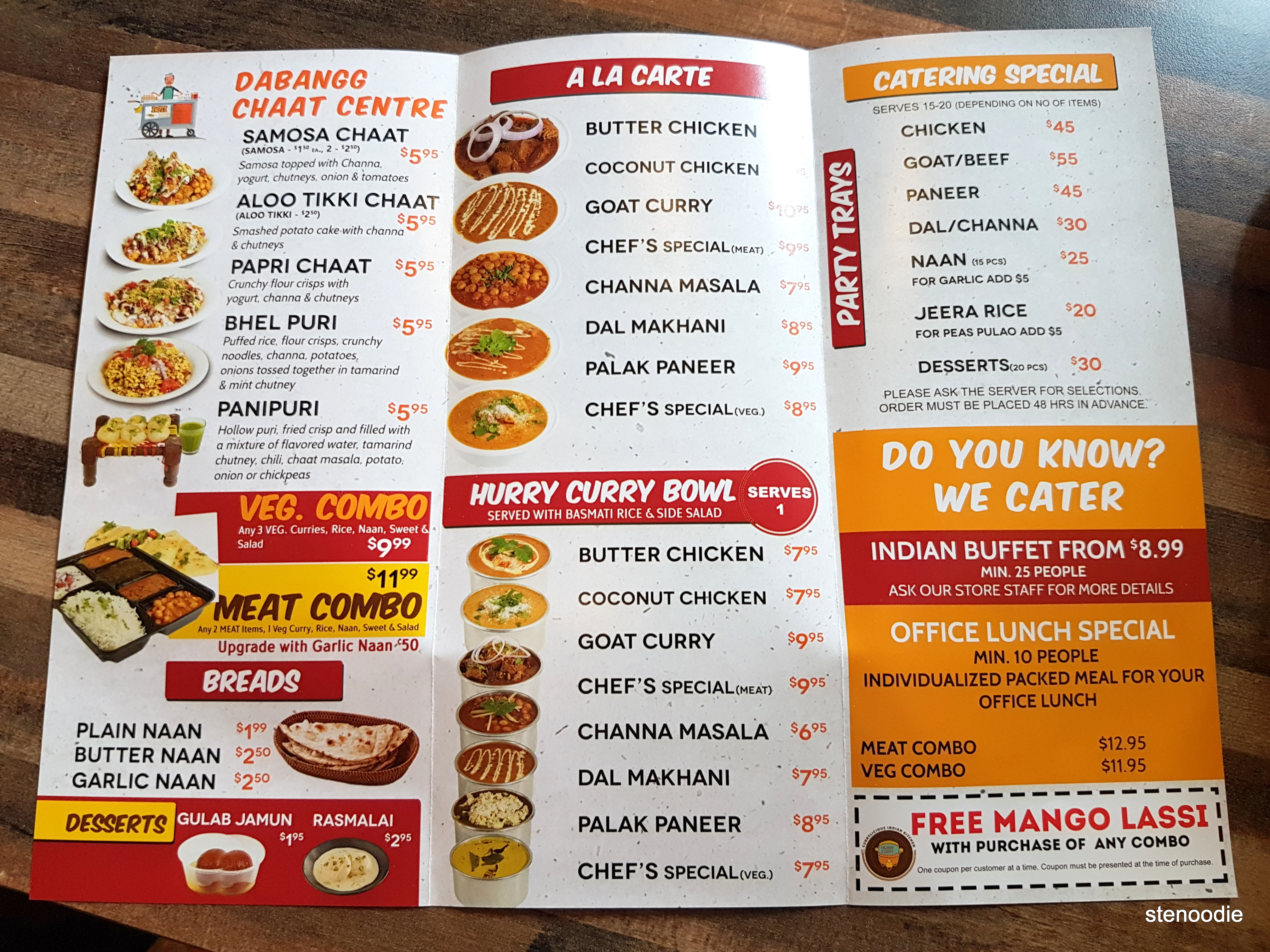 Hurry Curry and Tacorrito pamphlet