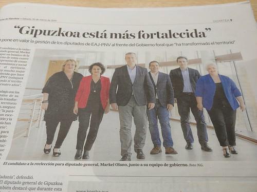 Markel Olano y su equipo de gobierno (sic)